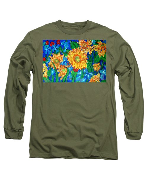 Symphony Of Sunflowers Long Sleeve T-Shirt
