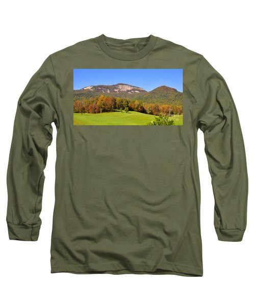 Table Rock In Autumn Long Sleeve T-Shirt by Lydia Holly
