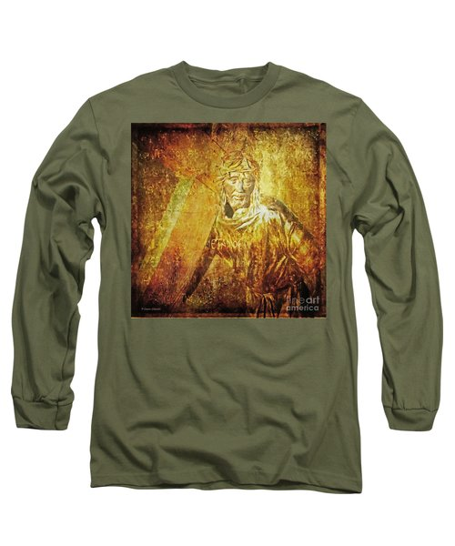 Takes Up The Cross  Via Dolorosa 2 Long Sleeve T-Shirt by Lianne Schneider