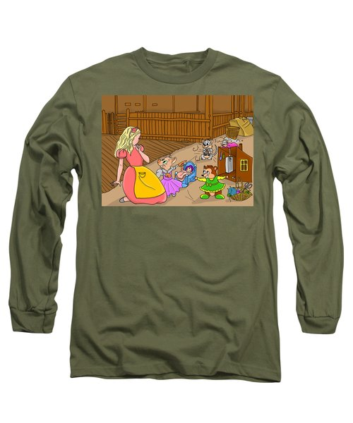 Long Sleeve T-Shirt featuring the painting Tammy And Her Playmates by Reynold Jay