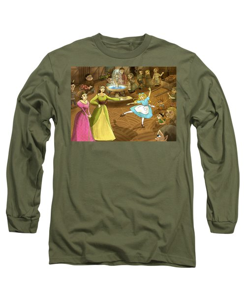 Long Sleeve T-Shirt featuring the painting Tammy In The Town Square by Reynold Jay