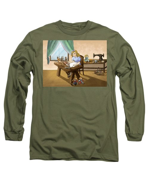 Long Sleeve T-Shirt featuring the painting Tammy The Little Doll Girl  by Reynold Jay