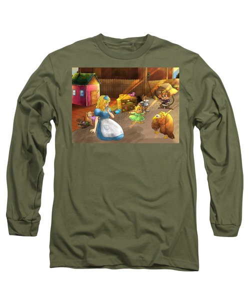 Tammy And Friends In The Backyard Long Sleeve T-Shirt