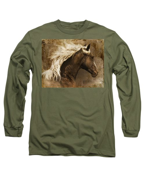 Long Sleeve T-Shirt featuring the photograph Taos by Priscilla Burgers