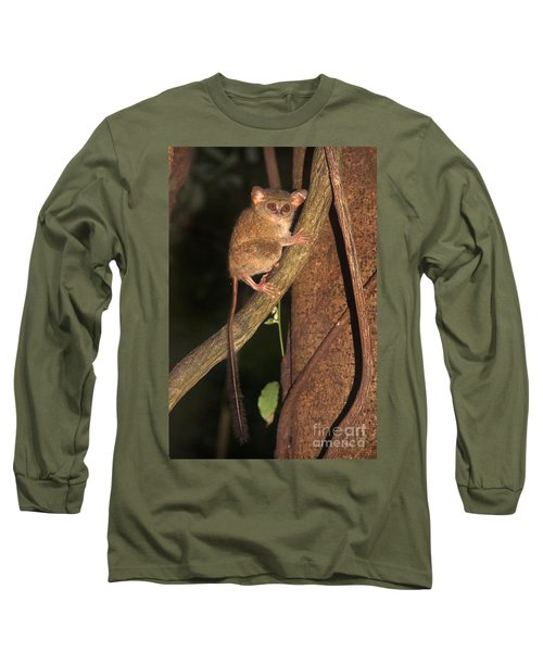 Long Sleeve T-Shirt featuring the photograph Tarsius Tarsier  by Sergey Lukashin