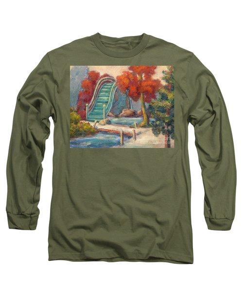Tea Garden Bridge Long Sleeve T-Shirt