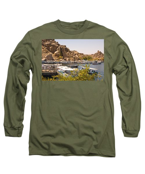 Temple Boat Dock Long Sleeve T-Shirt