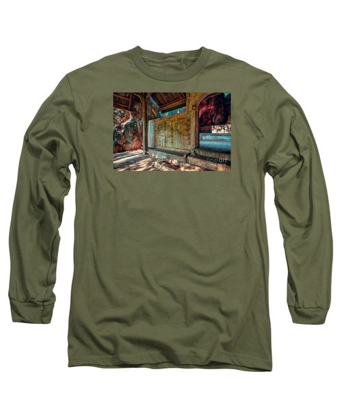 Temple Cave Long Sleeve T-Shirt by Adrian Evans