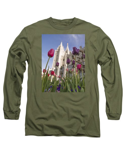 Temple Tulips Long Sleeve T-Shirt