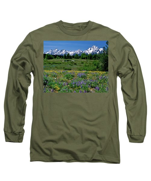 Teton Grandeur Long Sleeve T-Shirt by Ed  Riche