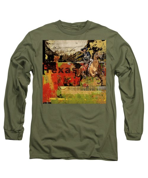 Texas Rodeo Long Sleeve T-Shirt by Corporate Art Task Force