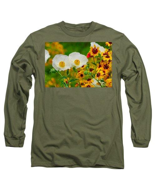 Texas Wildflowers Long Sleeve T-Shirt by Lynn Bauer