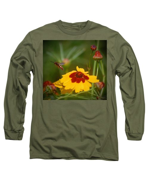 Long Sleeve T-Shirt featuring the photograph Textured Bee by Leticia Latocki