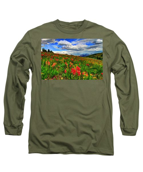 The Art Of Wildflowers Long Sleeve T-Shirt by Scott Mahon