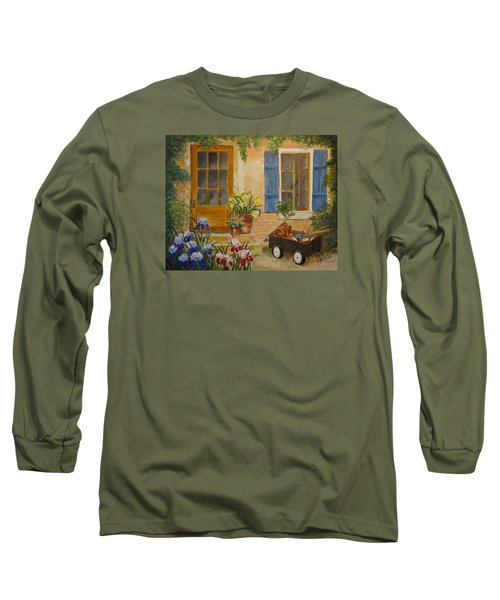 The Back Door Long Sleeve T-Shirt by Marilyn Zalatan