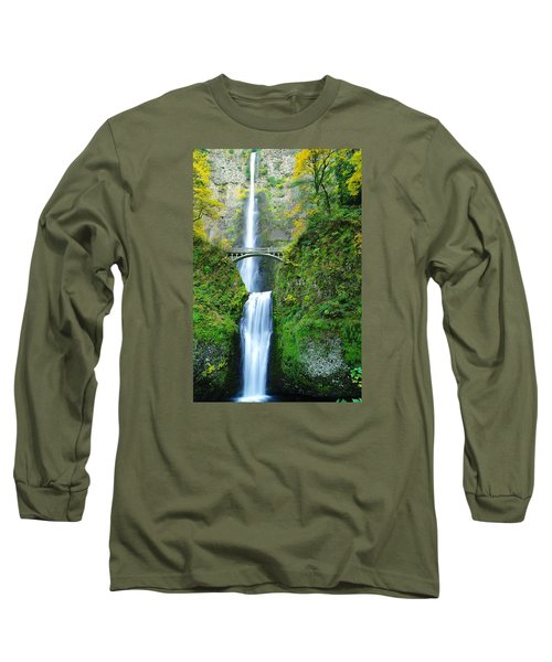 The Beauty Of Multnomah Falls Long Sleeve T-Shirt