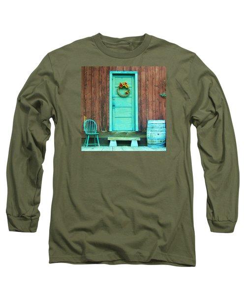The Blue Door Long Sleeve T-Shirt by Marilyn Diaz