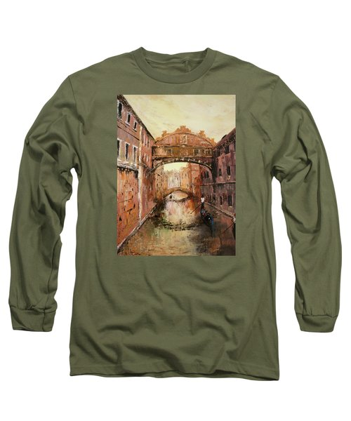 The Bridge Of Sighs Venice Italy Long Sleeve T-Shirt
