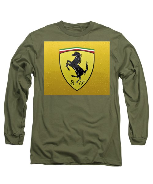 The Cavallino Rampante Symbol Of Ferrari Long Sleeve T-Shirt