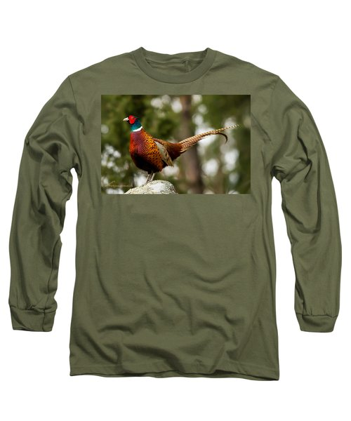 The Cock On Top Of The Rock Long Sleeve T-Shirt by Torbjorn Swenelius