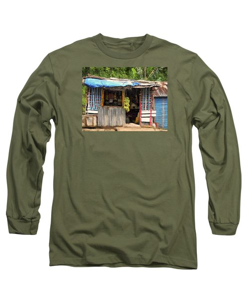 The Corner Market Long Sleeve T-Shirt by Dominic Piperata