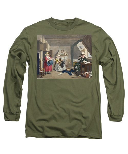 The Distressed Poet, Illustration Long Sleeve T-Shirt