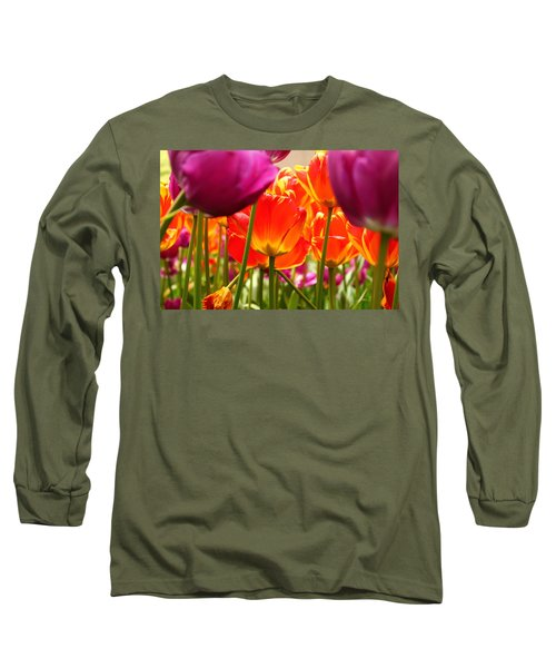 The Drooping Tulip Long Sleeve T-Shirt by Catie Canetti