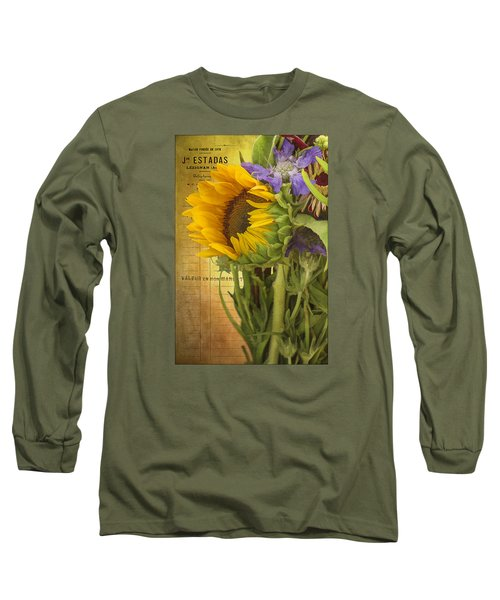 Long Sleeve T-Shirt featuring the photograph The Flower Market by Priscilla Burgers