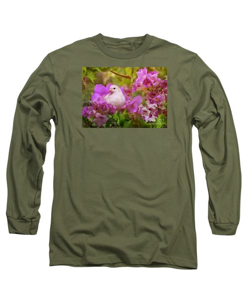 The Garden Of White Dove Long Sleeve T-Shirt