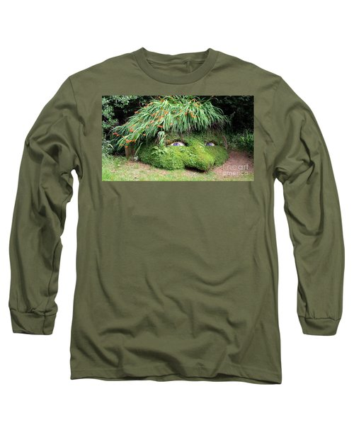 The Giant's Head Heligan Cornwall Long Sleeve T-Shirt by Richard Brookes