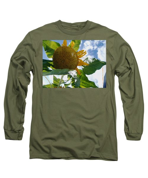 Long Sleeve T-Shirt featuring the photograph The Gigantic Sunflower by Verana Stark