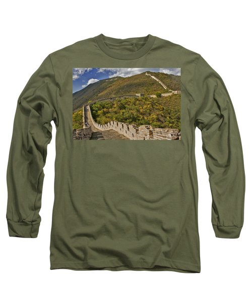The Great Wall Of China At Mutianyu 2 Long Sleeve T-Shirt