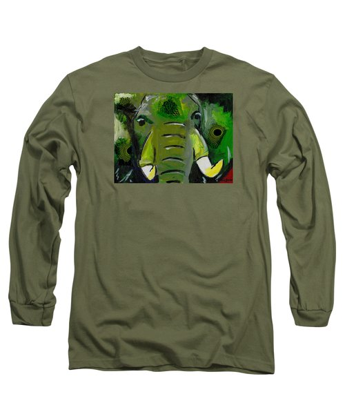The Green Elephant In The Room Long Sleeve T-Shirt