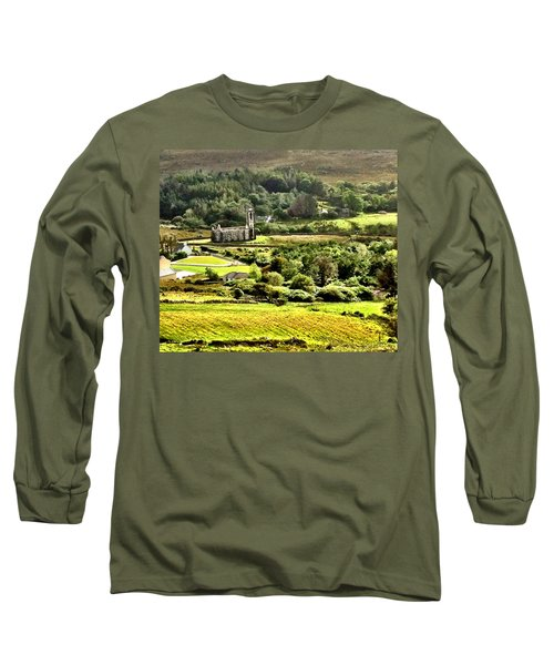 Long Sleeve T-Shirt featuring the photograph The Green Valley Of Poisoned Glen by Charlie and Norma Brock