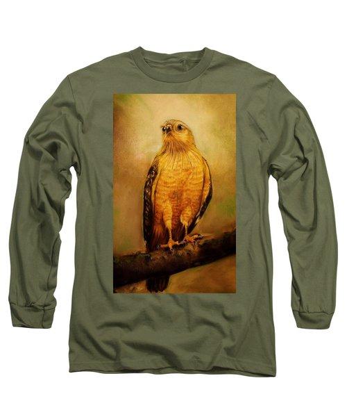 The Hawk Long Sleeve T-Shirt by Jean Cormier