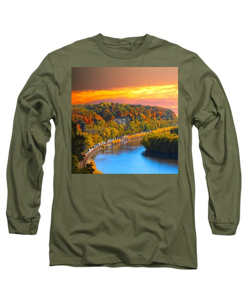 The Hobo Train Up The Mississippi Long Sleeve T-Shirt