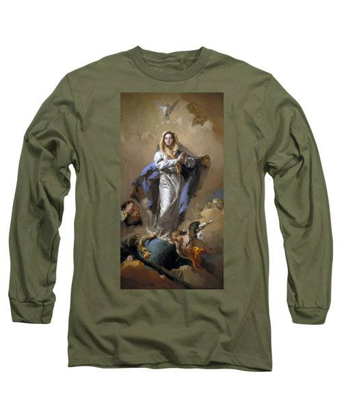 The Immaculate Conception Long Sleeve T-Shirt by Giovanni Battista Tiepolo