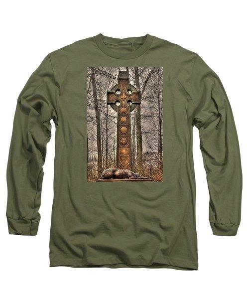 The Irish Brigade At Gettysburg  63rd-69th-88th New York Infantry St. Patricks Day 2012 Close-a Long Sleeve T-Shirt by Michael Mazaika