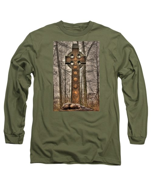 The Irish Brigade At Gettysburg  63rd-69th-88th New York Infantry St. Patricks Day 2012 Close-a Long Sleeve T-Shirt