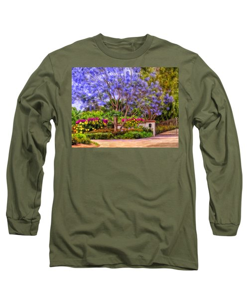 Long Sleeve T-Shirt featuring the painting The Jacaranda by Michael Pickett