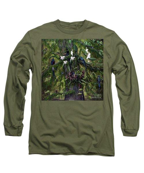 Long Sleeve T-Shirt featuring the painting The Jungle Of Guatemala by Jennifer Lake
