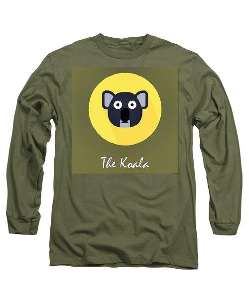 The Koala Cute Portrait Long Sleeve T-Shirt by Florian Rodarte