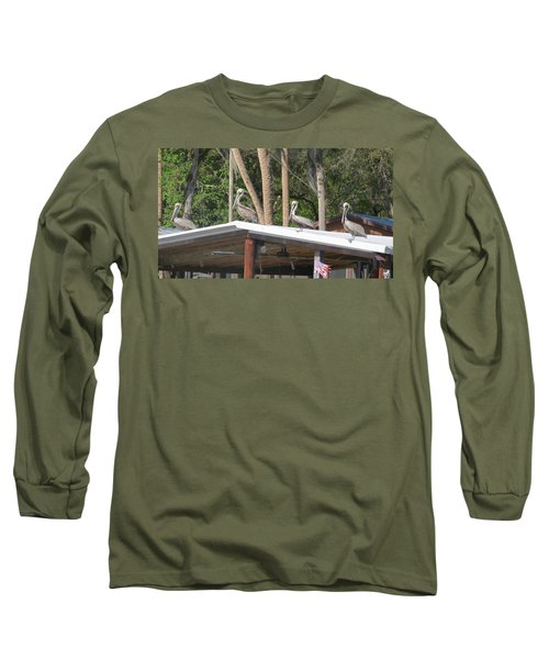 Long Sleeve T-Shirt featuring the photograph The Lineup by Fortunate Findings Shirley Dickerson