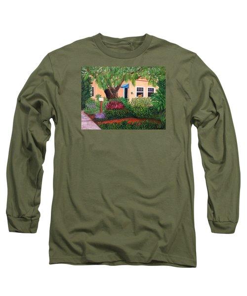 Long Sleeve T-Shirt featuring the painting The Long Wait by Karen Zuk Rosenblatt