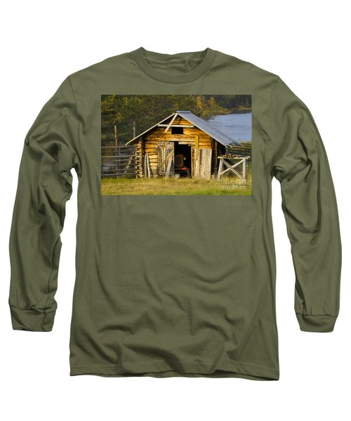 The Old Barn Long Sleeve T-Shirt by Heiko Koehrer-Wagner