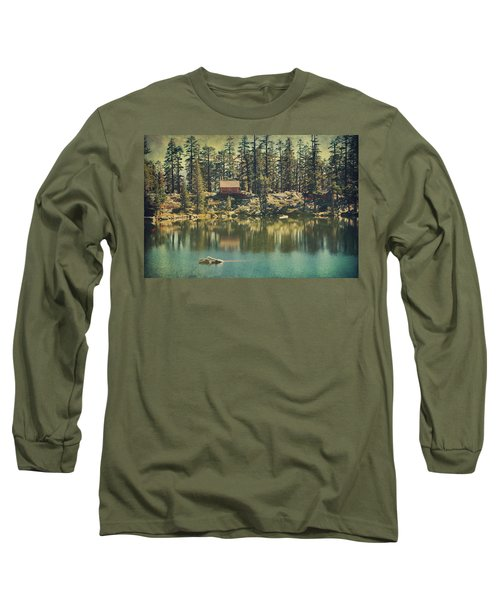 The Old Days By The Lake Long Sleeve T-Shirt by Laurie Search