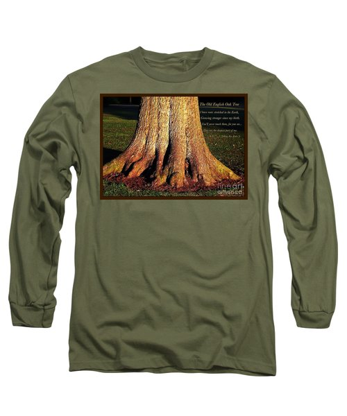 The Old English Oak Tree Long Sleeve T-Shirt