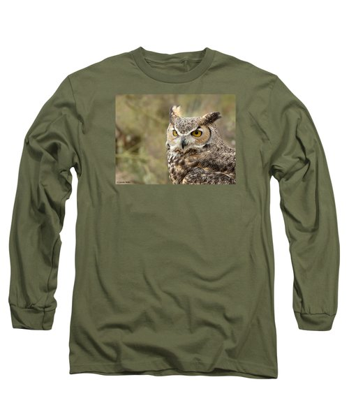 Long Sleeve T-Shirt featuring the photograph The Owl by Lucinda Walter