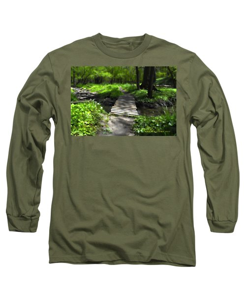 The Painted Forest From The Series The Imprint Of Man In Nature Long Sleeve T-Shirt by Verana Stark