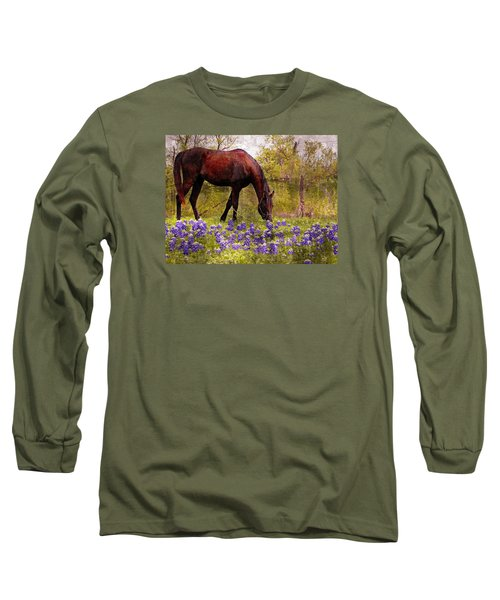 Long Sleeve T-Shirt featuring the photograph The Pasture by Kathy Churchman